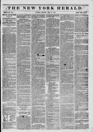 THE NEW YORK HERALD: WHOLE NO. 6781. SUNDAY MORNING, MAY 18, 1851. PRICE TWO CENTS. fIFTHN DAYS LATER FROM CALIFORNIA....