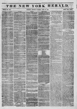 THE NEW YORK HERXI/D; t'i WHOLE NO. 6783. MORNING EDITION?TUESDAY, MAY 20, 185li PRICE TWO CENTS. DOUBLE SHEET. T IT AVCNUI.