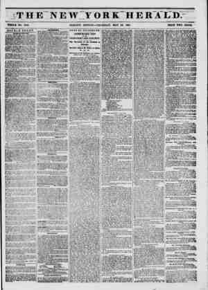 THE NEW YORK. HERALD. as WHOLE NO. 6T85. MORNING EDITION?THURSDAY, MAY 22, 1851. PRICE TWO CENTO. DOUBLE SHEET. A i&iju mt