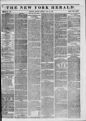 THE NEW YORK HERALD. WHOLE NO. 6789. MORNING EDITION?MONDAY, MAY 26, 1851. PRICE TWO CENTS. UOVIir THE ATE*.?HUtlil, ? CENTS;