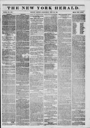THE NEW YORK HERALD. WHOLE NO. 6791. MORNING EDITION?WEDNESDAY, MAY 28, 1851. PRICE TWO CENTS. DOVttr THEATRE.?BOXES, 24...