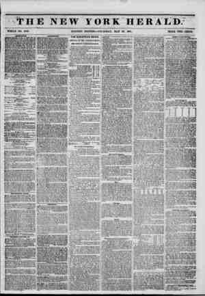 """THE NEW YORK HERALD. WHOLE NO. 6792. MORNING EDITION?THURSDAY, MAY 29, 1851. PRICE TWO CENT8. UTOMUDTC* 5B0WIRT TH""""TKK-bOXES."""