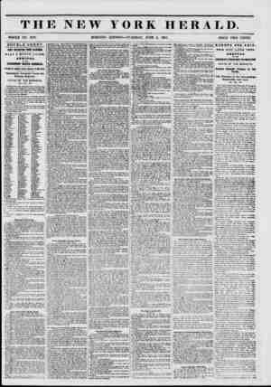 W YORK HERALD. WHOLE NO. 6797. MORNING EDITION?TUESDAY, JUNE 3, 1851. PRICE TWO CENTS. DOUBLE SHEET. VERY INTERESTING FROM