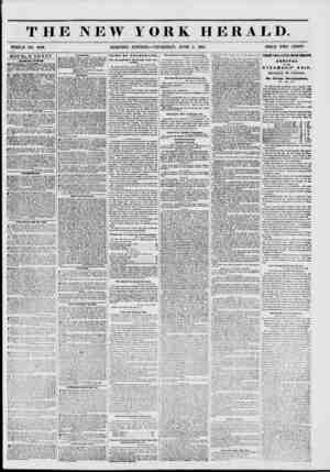 THE NEW YORK HERALD. WHOLE NO. 6799. MORNING EDITION?THURSDAY, JUNE 5, 1851. PRICE TWO CENT**. DOUBLE SHEET. ?ALIBI RT...