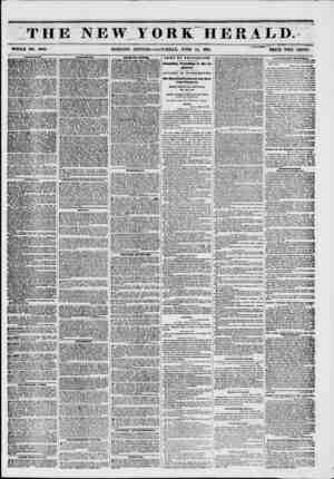 THE NEW YORK HERALD. WHOLE NO. 6808. MORNING EDITION?SATURDAY, JUNE 14, 1861. PRICE TWO CENTS. A MTJ NHN KNTS. Bowerv...