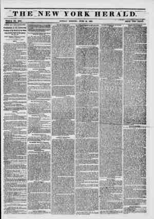 """THE NEW YORK HERA'L""""D. WHOLE NO. 6809. SUNDAY MORNINC, JUNE 15, 1861. PRICE TWO CENTS. i'i iw """"' i ?? -v. NEWS BY TELEGRAPH."""