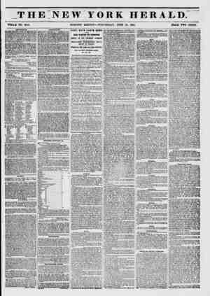 THE NEW YORK HERALD. >??? r?# WHOLE NO. 6813. MORNING EDITION?WEDNESDAY, JUNE 18, 1851. PRICE TWO CENT?. AMU8K9IK1VTS....