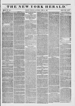THE NEW YORK HERALD. WHOLE NO. 6815. MORNING EDITION?SATURDAY, JUNE 21, 1851. PRICE TWO CENTS. AMI/SB ItIK NTS. Bowery...