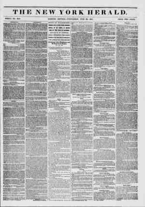 THE NEW YORK HERALD. WHOLE NO. 6819. MORNING EDITION?WEDNESDAY, JUNE 1851. PRICE TWO CENTS. AMVSKMKIWTS. .1QOWERY THEATRE.-