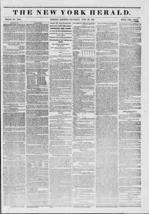 THE NEW YORK HERALD. WHOLE NO. 6820. MORNING EDITION?THURSDAY, JUNE 26, 1851. PRICE TWO CENTS. A1IVREMEKTI* BOWEKV...