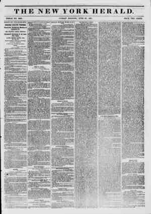 THE NEW YORK HERAED. WHOLE NO. 6823. SUNDAY MORNING, JUNE 29, 1851. PRICE TWO CENTS. TVEWS BY TELEGRAPH. INTERESTING...