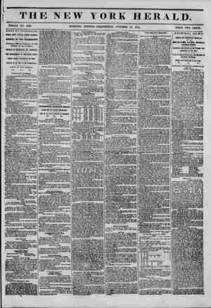 THE NEW YORK HERALD. WHOLE NO. 6635. MORNING EDITION-WEDNESDAY, OCTOBER 25, 1854. PRICE TWO CENTS. J NEWS BY T? LEGKAFH. j