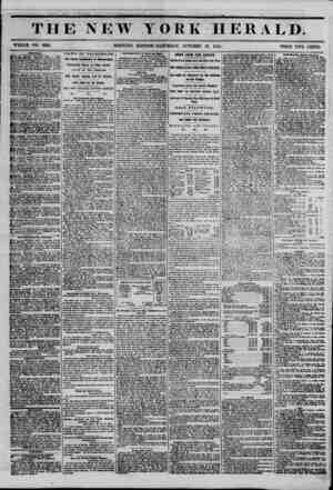 THE NEW YORK HERALD. WHOLE NO. 6638. MORNING EDITION-SATURDAY, OCTOBER 28, 1854. PRICE TWO CENTS. $50. WHABCUU ^tlTAA AAA...