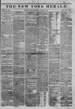 THE NEW YORK HERALD. WHOLE NO. 6640. MORNING EDITION-MONDAY, OCTOBER 30, 1854. PRICE TWO CENTS. POLITICAL AFFAIRS. FLABE-l'P