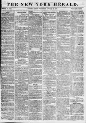 THE NEW YORK HERALD. ^ ,(J ? < . . . .j ' ' ' T r i * WHOLE NO. 6725. MORNING EDITION-WEDNESDAY, JANUARY 24, 1855. PRICE TWO
