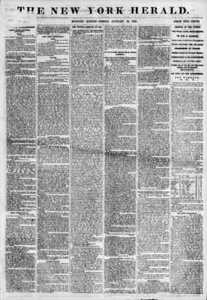 """'' r"""" E NEW TORE HERALD. ? W 'I * ? ? ' _ . , ? _ , ^ ?- _ ? ? ? * ??? ^ MORNING EDITION? FRIDAY, JANUARY 26, 1855. PRICE TWO"""