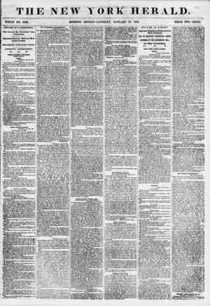 THE NEW YORK HERALD. WHOLE NO. 6728. MORNING EDITION-SATURDAY, JANUARY 27, 1855. PRICE TWO CENTS. AFFAIRS IN WASHINGTON. The