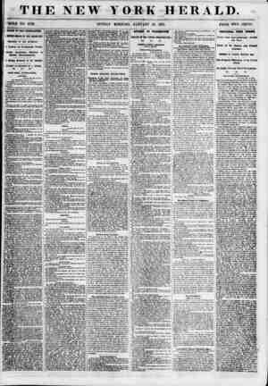 "THE NEW YORK HERALD. 'HOLE NO. 6729. SUNDAY MORNING, JANUARY 28, 1855. PRICE TWO CENTS. { ""FAIRS m THE LEGISLATURE. ' BESTHG"