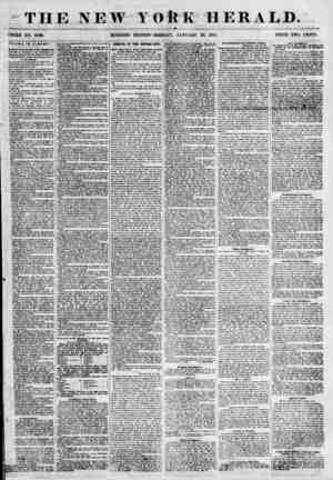 THE NEW YORK HERALD. TOOLE NO. 6730. MORNING EDITION-MONDAY, JANUARY 29, 1855. PRICE TWO CENTS. FFAIRS IN ALBANY. tit Week or