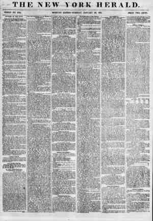 THE NEW Y WHOLE NO. 673L MORNING EDITION ORK HERALD., -TUESDAY, JANUARY 30, 1855. PRICE TWO CENTS. AFFAIRS IN THE CITY....