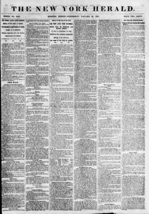 THE NEW YORK HERALD. WHOLE NO. 6732. MORNING EDITION? WEDNESDAY, JANUARY 31, 1855. PRICE TWO CENTS. ?RE WEEK LATER FROM...