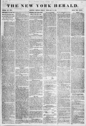Til E NEW WHOLE NO. 6734. MORNING YORK HERALD. EDITION-FRIDAY, FEBRUARY 2, L855. PRICE TWO CENTS. RfilBLE DISASTER (l?l THE