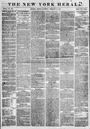 THE NEW YORK HEBAL?. ^ . ? WHOLE NO. 6735. MORNING EDITION ? SAT17 RD A Y, FEBRUARY 9, 1855. PRICE TWO CENTS....
