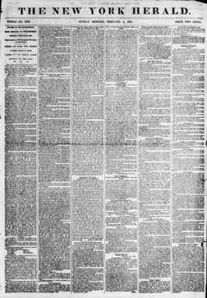THE NEW YORK HERALD. WHOLE NO. 6736. SUNDAY MORNING, FEBRUARr 4, 1855. PRICE TWO CENTS. AFFAIRS IN THE METROPOLIS. MASS...