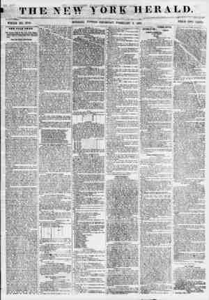 THE NEW YOB K HERALD. WHOLE NO. 6741'.. MORNING J^nTON? THURSDAY, FEBRUARY 3, 1855. PRICE TWO CENTS TBS OOLD BXIAP. The...