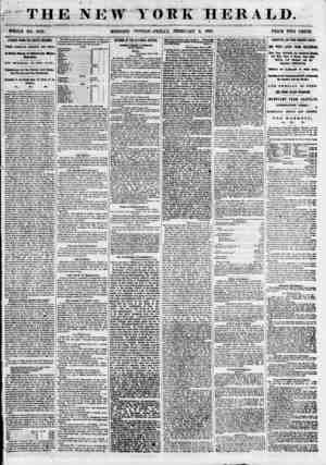 ? I , % \ ? ? * > . ' . * THE NEW YORK HERALD. < WHOLE NO. 6741, MORNING FDITI ON? FRIDAY, FEBRUARY 9, 1855. PRICE WO CENTS.