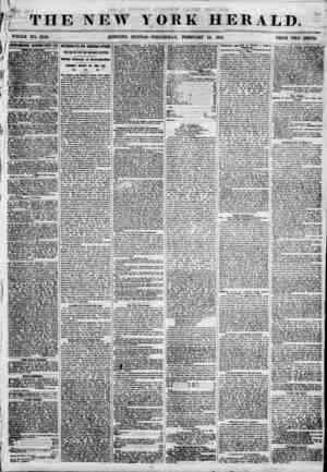 Jim - . ' ' t , ; f THE NEW YORK HERALD. ?' 1 WHOLE NO. 6746. CORNING EDITION? WEDNESDAY, FEBRUARY 14, 1855. PRICE TWO CENTS.