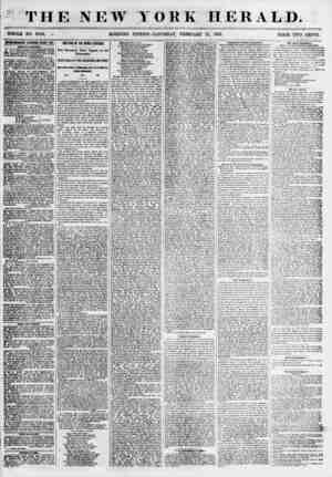 THE NEW YORK HERALD. ?% WHOLE NO. 6749. ? MORNING EDITION-SATURDAY, FEBRUARY 17, 1855. PRICE TWO CENTS. ummmm renbwsb every
