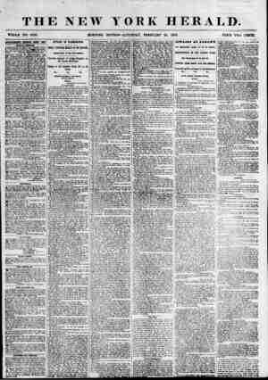 THE NEW YORK HERALD. WHOLE NO. 6756. MORNING EDITION? SATURDAY, FEBRUARY 24, 1855. PRICE TWO CENTS. emTBEimrra eemkwed ktket