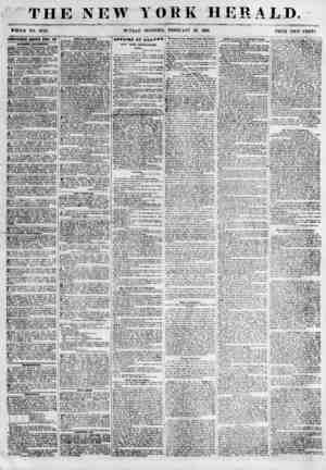 """THE NEW YORK HERALD. WHOLE NO. 675T. SUNDAY"""" MORNING, FEBRUARY 25, 1856. PRICE TWi? CENTS. ADTEKTWEIEXTS IEPWED ITBEf BAT..."""