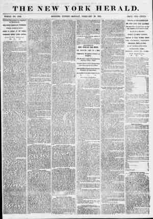 THE NEW YORK HERALD. WHOLE NO. 6758. MORNING EDITION-MONDAY, FEBRUARY 26, 1855. PRICE TWO CENTS. Terrible Encounter of...