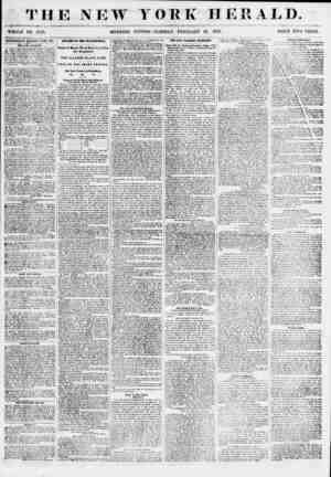 THE NEW YORK HERALD. WHOLE NO. 0759. MORNING EDITION? TUESDAY, FEBRUARY 27, 1855. I'll II' E TWO CENTS. ADTERTISEMEMS...