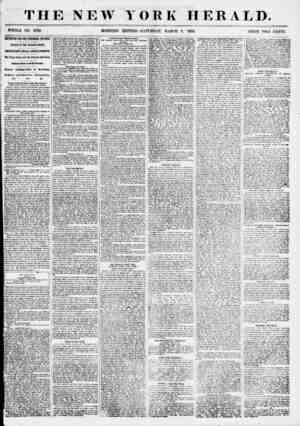 THE NEW WHOLE NO. 6763 > MORNING YORK HERALD. EDITION-SATURDAY, MARCH 3, 1855. PRICE TWO CENTS. METROPOLITAN AND SUBURBAN...