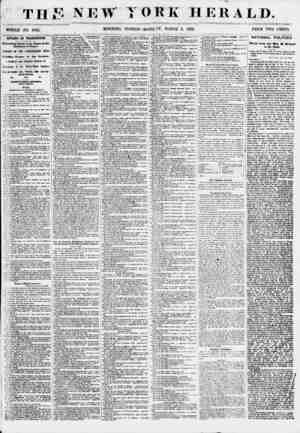 THjF new WHOLE NO. 6765. MORNING YORK HERALD. EDITION? MONDAY, MARCH 5, 1855. PRICE TWO CENTS. AFFAIRS IN WASHINGTON....
