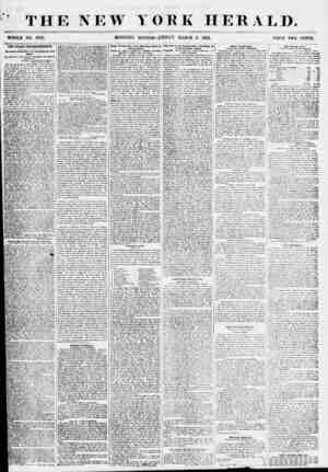 ' THE NEW YORK HERALD. WHOLE NO. 6769. MORNING EDITION-FRIDAY, MARCH 9, 1855. PRICE TWO CENTS. THE CUBAN CORRESPONDENCE. I