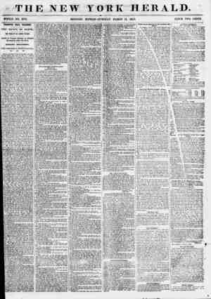 THE NEW YORK HERALD. WHOLE NO. 6773, MORNING EDITION-TUESDAY, MABOH 13, 186?*>. PiltlCE TWO CENTS. STAKWIX HALL TRAGEDY. TOE
