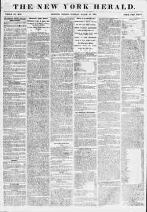 THE NEW YOKE HERALD. WHOLE NO. 6780 * .MORNING EDITION? TUKSDAY, MARCH 20, 1355. riUCE TWO CENTS. ADVERTISEMENTS RENEWED...