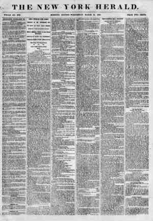 THE NEW Y WHOLE NO. 6781- MORNING EDITION ORK HERALD. WEDNESDAY, MARCH 21, 1855. PRICE TWO CENTS. ADFERTISEMENTS RENEWED...