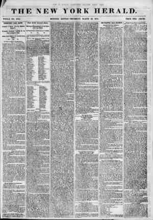 THE NEW YORK HERALD. WHOLE NO. 6782. MORNING EDITION? THURSDAY, MARCH 22, 1855. PRICE TWO CENTS. IMPORTANT raOM HAYTI....