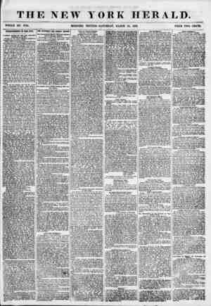 THE NEW YORK HERALD. WHOLE NO. 6784. MORNING EDITION-SATURDAY, MARCH 24, 1855. PRICE TWO CENTS. IMPROVEMENTS III THE CITT. V