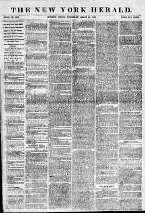 THE NEW YORK HERALD. TOOLE NO. 6788. MORNING EDITION? WEDNESDAY, MARCH 28, 1855. PRICE TWO CENTS. RIVAL, OP THE ATLANTIC. VEN