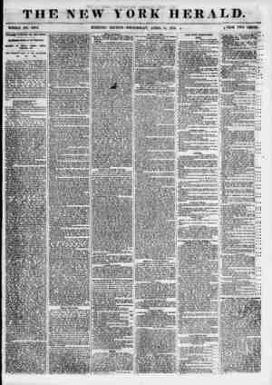 THE NEW YORK HERALD. WHOLE NO. 6802. MORNING EDITION? WEDNESDAY, APRIL 11, 1855. ? K'UCE TWO CENTS. TEMPERANCE TRIUMPHANT AND