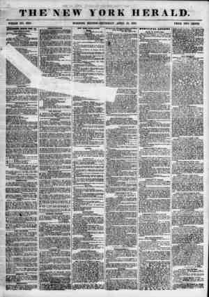 THE NEW WHOLE NO. 6803. MORNING YORK HERALD. EDITION? THURSDAY, APRIL 12, 1855. PRICE TWO CENTS. iwnnsMrom kehkwkb stmt bat.