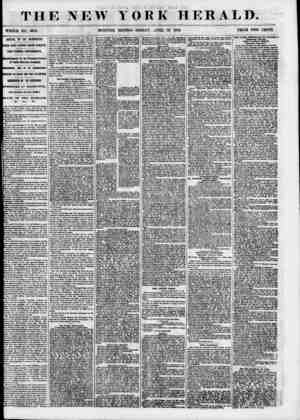 THE NEW YORK HERALD. WHOLE NO.. 68U4. MORNING EDITION-FRIDAY, APRIL 13. 1855. PRICE TWO CENTS. ARRIVAL OF THE WASHINGTON....