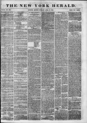 THE NEW WHOLE NO. 6808. YORK HERALD. EDITION-TUESDAY, APRIL. 17, 1855. PRICE TWO CENTS. ABTERTISEMENTS RENEWED EYERY DAY....