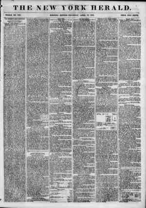 THE NEW WHOLE NO. 6810. MORNING YORK HERALD. EDITION-THURSDAY, APRIL 19, 1855. THE STAHWIX HALL MASSACRE. Court or Oyer and
